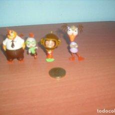Figuras de Goma y PVC: CHIKEN LITTLE Y DEMÁS PERSONAJES - LOTE DE 4 - SALIAN EN HUEVOS KINDER SORPRESA. Lote 87275672