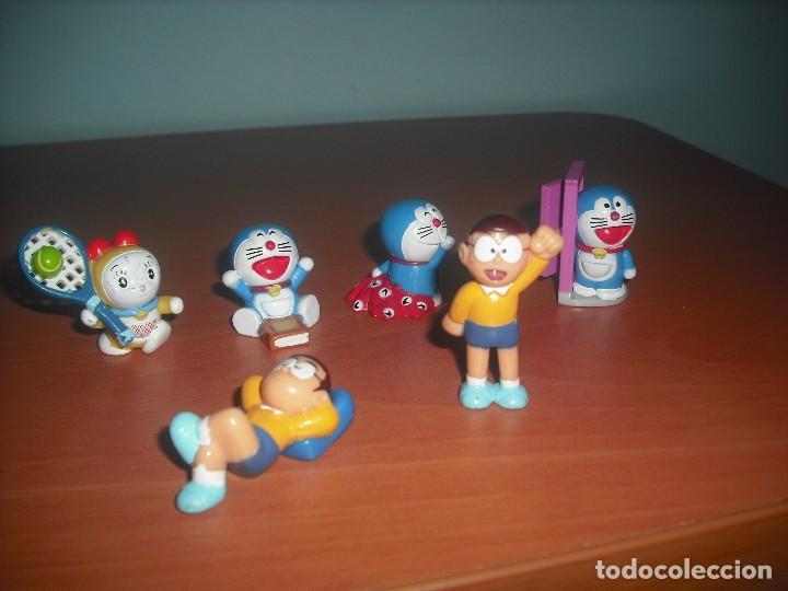 Figuras de Goma y PVC: Serie Doraemon - Salian en Huevos Kinder Sorpresa - Lote de 6 Muñecos - Foto 2 - 145997829