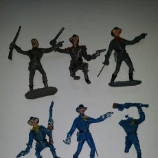 Figuras de Goma y PVC: FEDERALES O YANKEES Y CONFEDERADOS VAQUEROS DE COMANSI. Lote 87489508