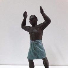 Figuras de Goma y PVC: PORTEADOR . REALIZADO POR JECSAN . SERIE SAFARI . AÑOS 50 EN GOMA. Lote 87634680