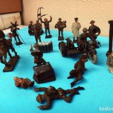 Figuras de Goma y PVC: LOTE DE SOLDADITOS SOLDADOS GUERRA , LINEOL , GERMANY , ALEMANIA , ANTIGUOS, VER FOTOS, ORIGINALES. Lote 87670444