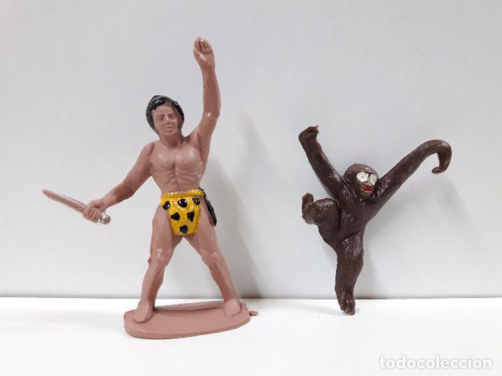 TARZAN Y CHITA . REALIZADO POR SOTORRES . AÑOS 60 (Juguetes - Figuras de Goma y Pvc - Sotorres)