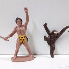 Figuras de Goma y PVC: TARZAN Y CHITA . REALIZADO POR SOTORRES . AÑOS 60 . Lote 87905372