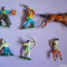 Lote figuras pvc indios y vaqueros