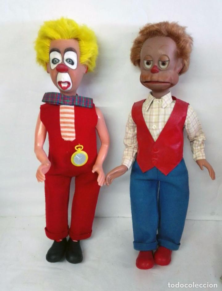 GRUÑÓN Y PEPITO, MUÑECOS DE LAS MARIONETAS DE HERTA FRANKEL. 1962 (Juguetes - Figuras de Goma y Pvc - Estereoplast)