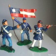 Figuras de Goma y PVC: FEDERAL YANKEE , GUERRA CIVIL SECESIÓN AMERICANA ACW , SOLDADOS, OESTE, ESCALA BRITAINS 1:32. Lote 89299492