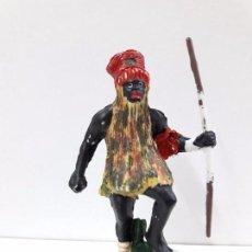Figuras de Goma y PVC: BRUJO - HECHICERO NEGRO . FIGURA EN PLASTICO. Lote 89437848