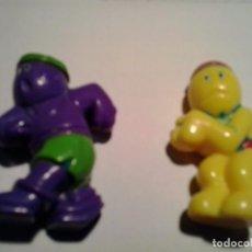 Figuras de Goma y PVC: 2 FIGURAS COLA CAO, DE DEPORTES. ANTIGUAS. Lote 89619176