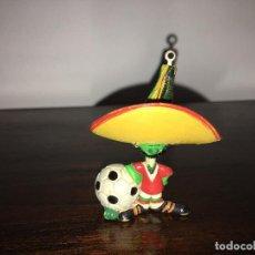 Figuras de Goma y PVC: FIGURA PVC MASCOTA MÉXICO 86 MAIA BORGES PORTUGAL . Lote 89683184