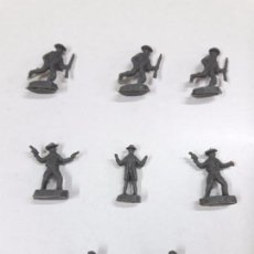 Figuras de Goma y PVC: LOTE DE SOLDADITOS MONTAPLEX . VAQUEROS. Lote 89848872