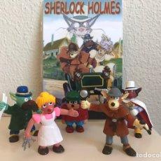 Figuras de Goma y PVC: PRECIOSA COLECCIÓN DE SHERLOCK HOLMES EN PVC. Lote 57653219