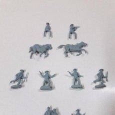 Figuras de Goma y PVC: LOTE DE SOLDADITOS MONTAPLEX . VAQUEROS. Lote 90358660