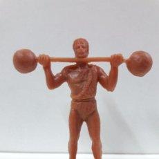 Figuras de Goma y PVC: HOMBRE FORZUDO . REALIZADO POR JECSAN . EN PLASTICO MONOCOLOR. Lote 90368660