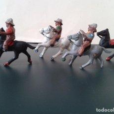 Figuras de Goma y PVC: VAQUEROS ALCA CAPELL, PINTADOS A MANO. 1964. Lote 90380588