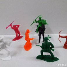 Figuras de Goma y PVC: VAQUEROS CONTRA INDIOS . BATALLA LITTLE BIG HORN . PLASTICO MONOCOLOR. Lote 90516335