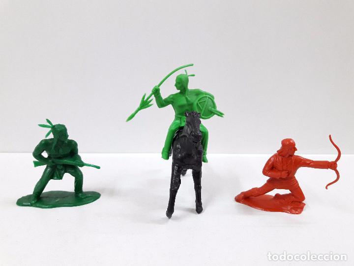 Figuras de Goma y PVC: VAQUEROS CONTRA INDIOS . BATALLA LITTLE BIG HORN . PLASTICO MONOCOLOR - Foto 3 - 90516335