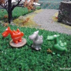 Figuras de Goma y PVC: 3 CABALLITOS DUNKIN ANTIGUOS. LOTE F-5. Lote 90942400