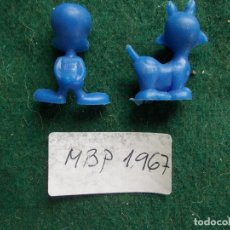 Figuras de Goma y PVC: 1967 CHICLES DUNKIN COLECCIÓN DISNEY WARNER LOONEY TUNES MARCA MBP. Lote 90944610