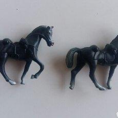Figuras de Goma y PVC: 2 CABALLOS GOMA COMANSI. Lote 91005542