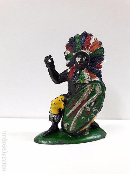 GUERRERO AFRICANO KAKUANA . REALIZADO POR PECH . AÑOS 50 EN GOMA (Juguetes - Figuras de Goma y Pvc - Pech)