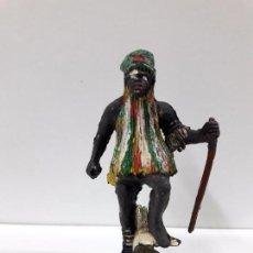 Figuras de Goma y PVC: GUERRERO - BRUJO AFRICANO KAKUANA . REALIZADO POR PECH . AÑOS 50 EN GOMA. Lote 91166650