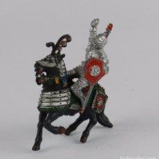 Figuras de Goma y PVC: FIGURA A CABALLO DE LAFREDO, MEDIEVAL, REALIZADO EN PLASTICO.. Lote 91349410