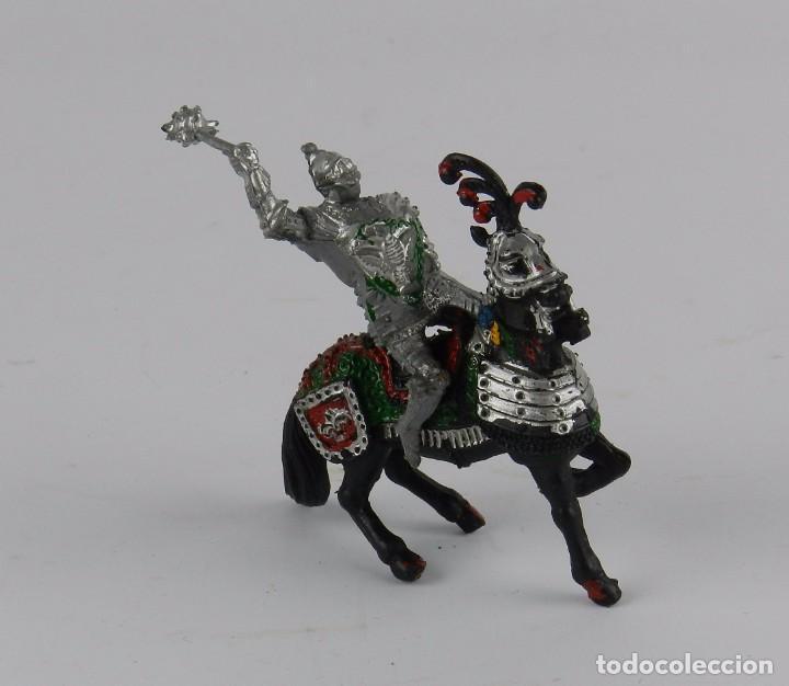 Figuras de Goma y PVC: Figura a caballo de Lafredo, medieval, realizado en plastico. - Foto 2 - 91349520
