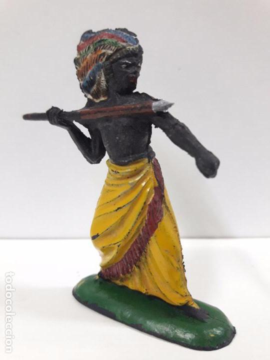 Figuras de Goma y PVC: GUERRERO AFRICANO KAKUANA . REALIZADO POR PECH . AÑOS 50 EN GOMA - Foto 3 - 91567285