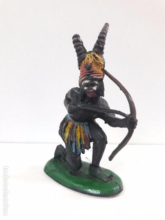 Figuras de Goma y PVC: GUERRERO AFRICANO KAKUANA . REALIZADO POR PECH . AÑOS 50 EN GOMA - Foto 2 - 91567805
