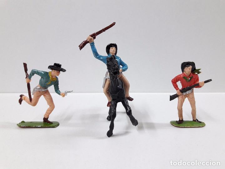 Figuras de Goma y PVC: VAQUEROS Y COMPLEMENTOS REALIZADOS POR JECSAN CON CARRETA WELLS FARGO . AÑOS 60 - Foto 5 - 91680685