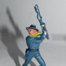 Figuras de Goma y PVC: FIGURA DE PLASTICO, SOLDADO YANKEE, SEPTIMO CABALLERIA, JECSAN, AÑOS 70, APROX.. Lote 91707665