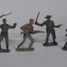 Figuras de Goma y PVC: 6 FIGURAS SOLDADOS, YANKEE CONFEDERADO DE PLASTICO, REALIZADOS POR PECH, AÑOS 60.. Lote 91709150
