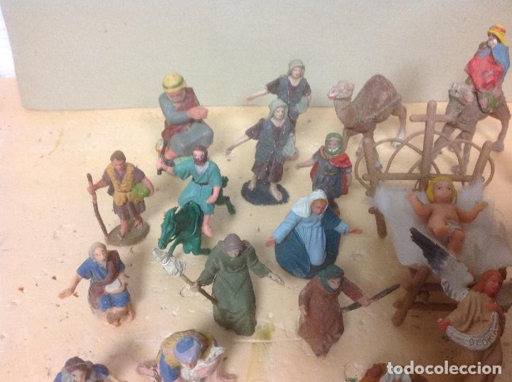 820eb9e830a Figuras de Goma y PVC  LOTE FIGURAS PESEBRE PLASTICO - figura belen pesebre  navidad alguna
