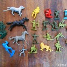Figuras de Goma y PVC: LOTE VARIADO FIGURAS MEDIEVALES OESTE CABALLOS. Lote 91793905