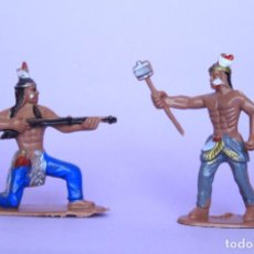 Figuras de Goma y PVC: COMANSI DOS INDIOS POLICROMADOS. Lote 91799425