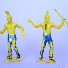 Figuras de Goma y PVC: COMANSI DOS INDIOS POLICROMADOS. Lote 91800645