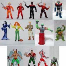 Figuras de Goma y PVC: LOTE 14 FIGURAS YOLANDA-STAR TREK-CAZAFANTASMAS-TSUBURAYA-RINOCERONTE MAZINGER-PIRATA-AÑOS 70-80-90. Lote 91952095