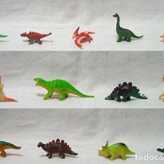 Figuras de Goma y PVC: LOTE 13 DINOSAURIOS MINIATURA PEQUEÑOS-ALGUNOS SAFARI LTD. AÑOS 80-90. Lote 91952440