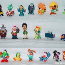 Figuras de Goma y PVC: LOTE 19 FIGURAS TAMAÑO KINDER-FERRERO-PAGOT-MONDESIR-WARNER-DISNEY-RTVE-FOX-RAINBOW-AÑOS 90 Y 00.. Lote 91952990