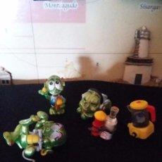 Figuras Kinder: ANTIGUAS FIGURAS DE MARCIANITOS. Lote 92068510