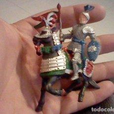 Figuras de Goma y PVC: CABALLO CABALLERO MEDIEVAL LAFREDO AÑOS 60 BE PINTADOS A MANO SIMILAR REAMSA JECSAN . Lote 92226565
