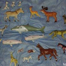 Figuras de Goma y PVC: LOTE DE ANIMALES AÑOS 80. Lote 92240359