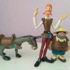 lote 3 figuras pvc serie don quijote marca eura spain vintage años 80