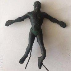 Figuras de Goma y PVC: ANTIGUA FIGURA DE NEGRO DE GOMA DE ARCLA CON ALAMBRE, COMPLETAMENTE ORIGINAL, EXCEPCIONAL.. Lote 92684820