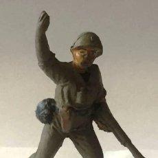 Figuras de Goma y PVC: SOLDADO AMERICANO, DE JECSAN, GOMA, AÑOS 50. Lote 92691335