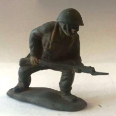 Figuras de Goma y PVC: SOLDADO AMERICANO, DE JECSAN, GOMA, AÑOS 50. Lote 92691675