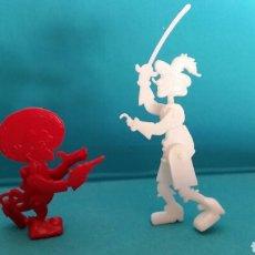 Figuras de Goma y PVC: FIGURAS OMO PANCHO DISNEY TRES CABALLEROS Y GARFIO. Lote 92692923