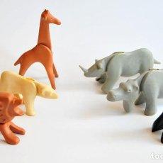 Figuras de Goma y PVC: LOTE DE 6 FIGURAS ANIMALES ZOO PLASTICO DURO. Lote 92834120