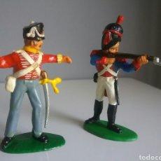 Figuras de Goma y PVC: GRANADERO FRANCÉS Y COLDSTREAM BRITÁNICO WATERLOO, TIMPO, 1:32, NAPOLEÓNICOS COMP. REAMSA Y LAFREDO. Lote 92844427