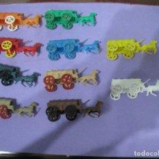 Figuras de Goma y PVC: MONTAPLEX- LOTE DE 10 CARRETAS DE OESTE- VENIAN EN LOS SOBRES MONTAPLEX-AÑOS70-80. Lote 92942430